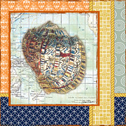 Sea Shell Digital Art Posters - Nautical Journey-Shell C Poster by Jean Plout