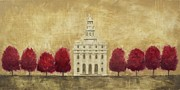 Worship God Paintings - Nauvoo Temple by Dena McMurdie