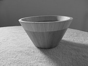 Wooden Bowl Prints - Navajo Bowl in B and W Print by Tina M Wenger