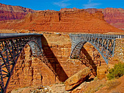 Northern Colorado Digital Art Prints - Navajo Bridge and Vermillion Cliffs near  Lees Ferry-AZ  Print by Ruth Hager