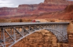 Vermillion Cliffs Prints - Navajo Bridge Print by Louise Heusinkveld