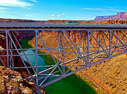 Northern Colorado Digital Art Prints - Navajo Bridge Over Colorado River near Lees Ferry-AZ Print by Ruth Hager