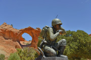 Phone Prints - Navajo Code Talker - Window Rock AZ Print by Christine Till