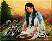 Ilona Anita Tigges - Goetze - Navajo Girl Collects...