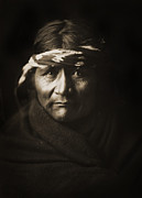 Edward Curtis Framed Prints - Navajo Man Framed Print by The  Vault