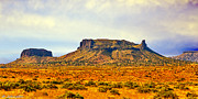 Unique View Digital Art Posters - Navajo Nation Monument Valley Poster by Nadine and Bob Johnston