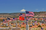 Patriotism Framed Prints - Navajo Veterans Memorial Cemetery Tsehootsooi Framed Print by Christine Till