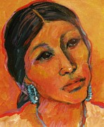 Native American Woman Prints - Navajo Woman Print by Carol Suzanne Niebuhr