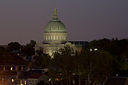 Hunters Moon Prints - Naval Academy Chapel Dome at Dusk Print by Mark Milar