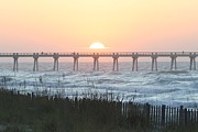 Panama City Beach Posters - Navarre Beach Sunrise 2 Poster by Michelle Powell