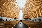 Oakland Photo Originals - Nave at Cathedral of Christ the Light by James Watkins