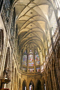 Prague Castle Photos - Nave Of Cathedral by Michal Boubin