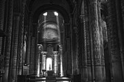 Religious Prints Photo Metal Prints - Nave of Eglise Notre-Dame la Grande de Poitiers Metal Print by RicardMN Photography