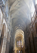 Prague Castle Photos - Nave Of The Cathedral by Michal Boubin