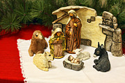 Nativity Prints - Navitity in Ceramics Print by Linda Phelps