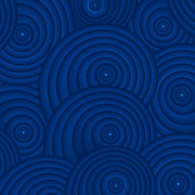 Swirls Paintings - Navy Blue Abstract by Frank Tschakert