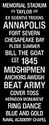Chesapeake Bay Framed Prints - Navy College Town Wall Art Framed Print by Replay Photos
