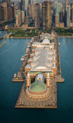 Michigan Art - Navy Pier Aloft by Steve Gadomski