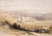 Village Views Prints - Nazareth Print by David Roberts