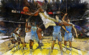Nba Painting Framed Prints - Nba Framed Print by Georgi Dimitrov