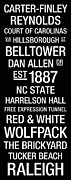 Black And White Photos Posters - NC State College Town Wall Art Poster by Replay Photos