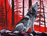 Basketball Paintings - NCSU Wolfpack by Tommy Midyette