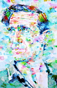 Beat Painting Posters - NEAL CASSADY watercolor portrait Poster by Fabrizio Cassetta