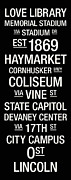 Coliseum Prints - Nebraska College Town Wall Art Print by Replay Photos