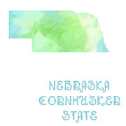 Abstract Map Prints - Nebraska - Cornhusker State - Map - State Phrase - Geology Print by Andee Photography