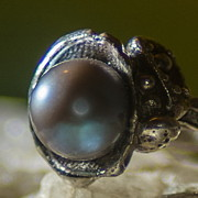 Dramatic Jewelry - Nebula Grey Pearl by Klara Jewels