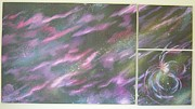 Stellar Paintings - Nebula II Triptych by Mark Golomb