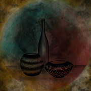 Burger Digital Art Prints - Nebula Pots Print by Christelle Burger