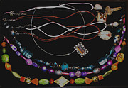 Colorful Jewelry - Necklace Samples by Heather Kirk