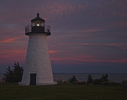 Ned's Point Lighthouse Of Mattapoisett Print by Amazing Jules