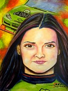 Danica Patrick Prints - Need for speed Print by Michael Alvarez