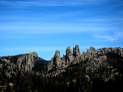 Needles Highway Framed Prints - Needles Highway sky Framed Print by Ellen Bollinger