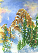 Snowy Trees Paintings - Needles by Walt Brodis