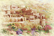 National Painting Posters - Neemrana Fort Palace Poster by Catf