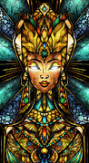 Ancient Jewelry Framed Prints - Nefertiti Framed Print by Mandie Manzano