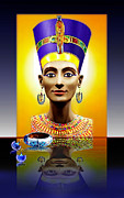Jewellery Digital Art Prints - Nefertiti  The  Beautiful Print by Hartmut Jager