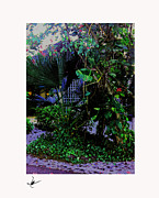 Photographs Pastels Metal Prints - Negal Flower Garden Metal Print by Mike Bernard