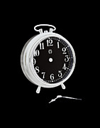 Clock Hands Prints - Negative no time on its hands Print by Allan Bell
