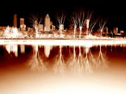 Montreal Buildings Digital Art - Negative Reflections  by Robert Knight