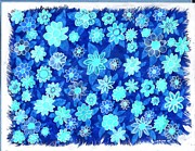 Carla s  Designs - Negative Warm Flowers