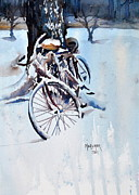 Tandem Bicycle Framed Prints - Neglected Framed Print by Spencer Meagher