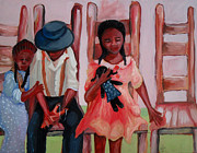 Slavery Painting Prints - Negro Child Missing Print by Janie McGee