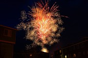 Pyrotechnics Prints - Neighborhood Fireworks Print by Marcelo Albuquerque