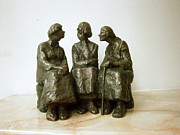 Women Sculpture Originals - Neighbors by Nikola Litchkov
