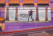 Neil Young Acrylic Prints - Neil Young Billboard Acrylic Print by Day Dreams Day Dreams