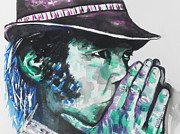 Musician Greeting Cards Paintings - Neil Young by Chrisann Ellis